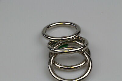 O Ring  6 x welded steel 50mm x 8mm horse rugs dog collars leads