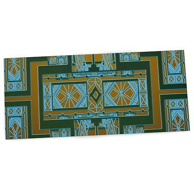 "KESS InHouse Nika Martinez ""Golden Art Deco Green & Blue"" Office Desk Mat, Pad,"