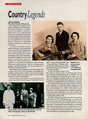 The Carter Family Maybelle 1 Page Clipping