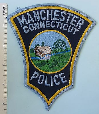 MANCHESTER CONNECTICUT POLICE DEPARTMENT PATCH on CITY CARD