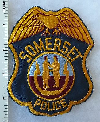 SOMERSET KENTUCKY POLICE PATCH Vintage ORIGINAL Cut Edge