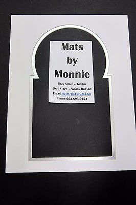 PHOTO MAT FOR 45 Vinyl Record and Cover White and silver