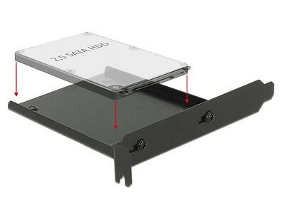 Delock Installation frame for 2.5″ drive into a free PC slot PCI / PCIe & other