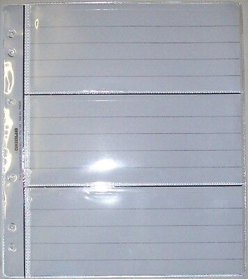 Pack of ten 3 Pocket Renniks Banknote Album Pages - New Style