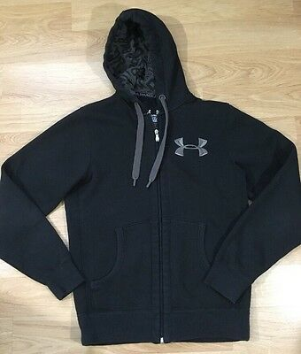 Under Armour Storm Full Zip Hoodie Men's Size Small Loose Black Gray