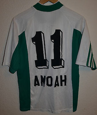 St. Gallen Switzerland 1999/2000 Home Football Shirt Jersey Adidas #11 Amoah