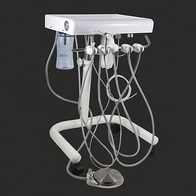 NEW Dental Portable Delivery Unit Mobile Cart  with fiber optic tube Cable hose