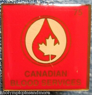 Canadian Blood Service 75 pin