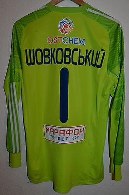 Dynamo Kyiv Ukraine Match Issue Football Shirt Jersey Adizero #1 Shovkovskyi
