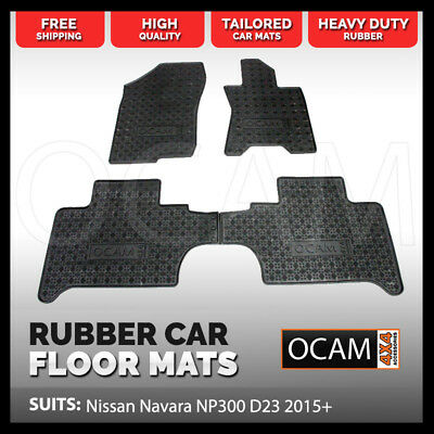 BRAND NEW Tailored Rubber Floor Mats for Nissan Navara NP300 D23 2015+ Car Mats