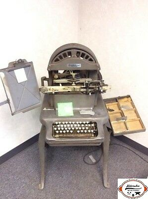 Vintage Graphotype Addressograph 6340 dog tag embossing machine