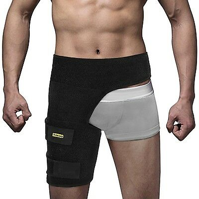 Yosoo Groin Support - Adjustable Neoprene Groin Strain Pain Wrap Compression ...