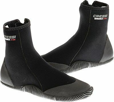 NEW Cressi Minorca 3mm Boots with Sole 8 FREE SHIPPING Non-Slip Rubber Soles