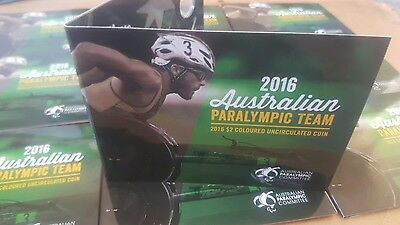 Free Post! 2016 Paralympic Olympic $2 Australian Coin Empty Folder  Ram Issue