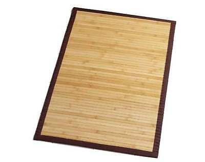 Natural Bamboo Front Door Kitchen Home Floor Mat Non-Slip Homeware 60cm x 90cm