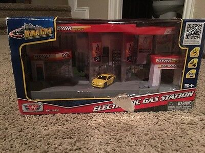 Motor Max Dyna City Electronic Gas Station (78490) Rare Find!
