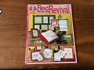 "Book ""red Revival"" Iron On Designs For Redwork By Cheryl Haynes"