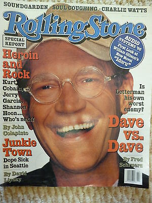 David Letterman Rolling Stone magazine cover story May 30, 1996