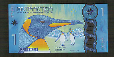 Antarctica 1 dollar 2016 Polymer - high quality fantasy note.