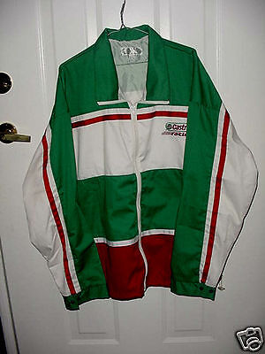 Unused RED & WHITE & GREEN Size XXL CASTROL OIL RACING JACKET for Summer Wear
