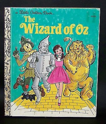 Vintage 1975 THE WIZARD OF OZ A Little Golden Book RARE & HTF!