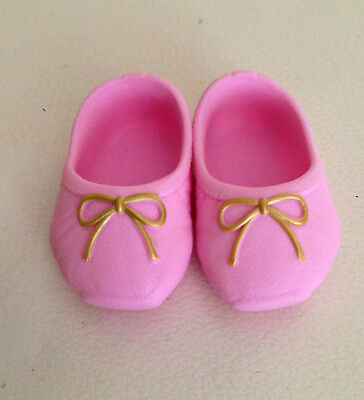 Zapf Creations Germany Pink Baby Born - American Girl Doll Shoes Gold Trim