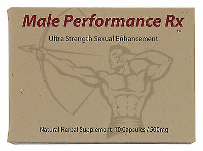 Male Performance Rx - Male Enhancement Pills - Red Herbal Capsules 500mg Tablets