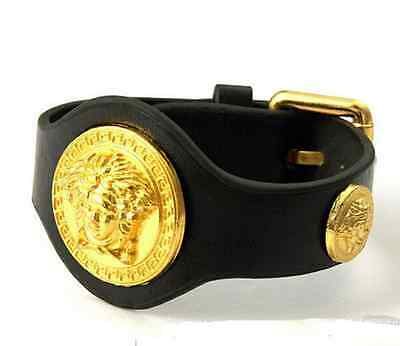 24K Real Gold Plated Silicone Bracelet  Medusa Three Heads  hip hop jewelry