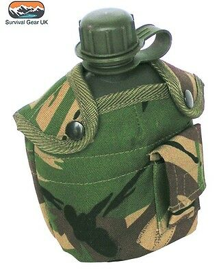 Military Style Water Bottle DPM Pattern Army Tactical Bushcraft Cadet Airsoft