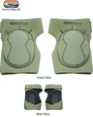 Neoprene Knee Pads Protection Green Tactical Airsoft Paintballing Padding
