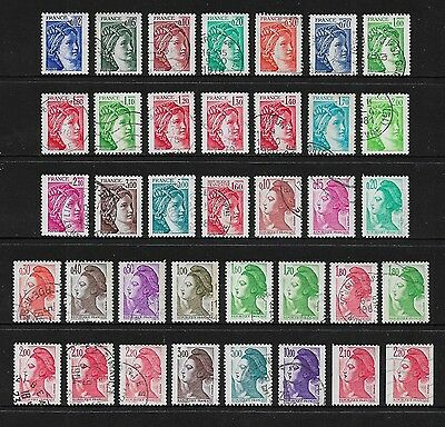 FRANCE - mixed collection, 1977 1981 France, 1982 Liberty