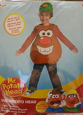 Kids Fancy Dress Costume Cosplay Outfit Cute Mr Potato Head Funny Age 3+ Toddler