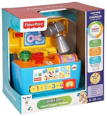 Fisher Price Laugh & Learn Activity Toolbox Lights Songs Words & Phrases Cgv12