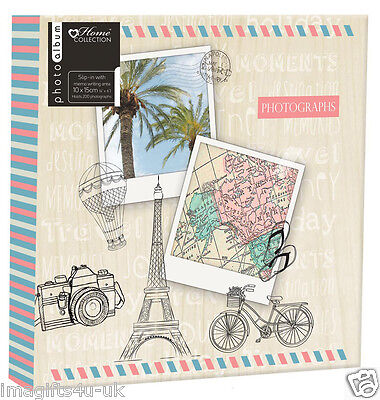 Travel Photo Album (6'' x 4'') Holds 200 Photos Gift Picture Photo Book