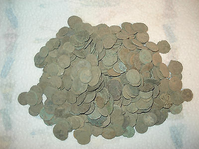 100 Uncleaned Genuine Authentic Ancient Roman  Bronze coin --- LOT 100 COIN