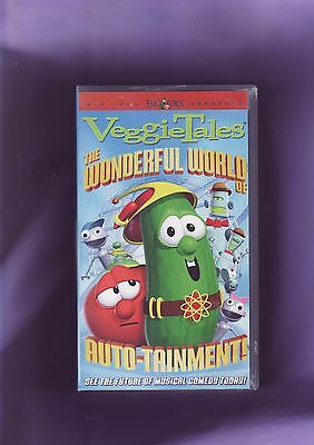 Veggie Tales ' The Wonderful World Of Auto-Tainment' Vhs Video