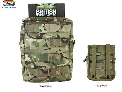 BTP MTP Style MOLLE Large Zipped Army Utility Webbing Pouch RAF Security Airsoft