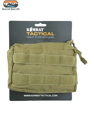 Army Kombat Molle Utility Pouch Coyote Sand Military Airsoft Paintball