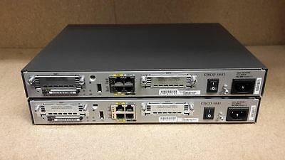 2 X Cisco 1841 Isr Routers 128Mb/32Mb Ccna Ccnp Ccie Lab