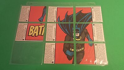 1966 Deluxe Reissue Batman Trading Cards-8 Piece-Incomplete Batman-Topps