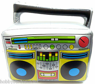 Inflatable Blow Up Boom Box Blow Up Stereo Radio Ghetto Blaster 80's Party New