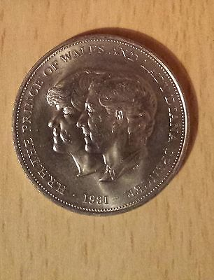 Rare Royal Wedding Charles & Diana 1981 Crown Coin (5 Pound Size) Uncirculated