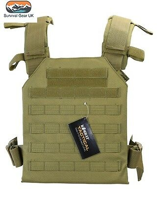 Kombat UK Spartan Molle Plate Carrier Coyote Aitsoft Military Army Paintball