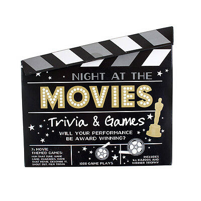 Hollywood Night at the Movies Trivia Games Oscars Movie theme Family Fun Games