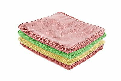 Microfiber Soft Cleaning Cloths - 3 Pack Cloth Towels Kitchen Car Glass Windows