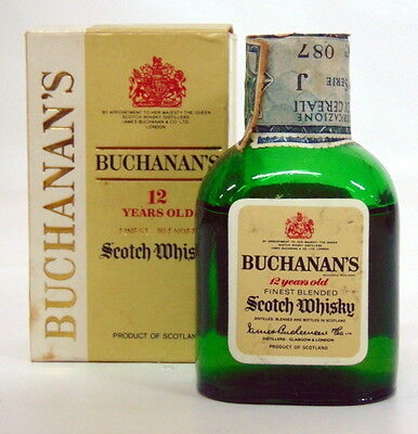 Miniature Buchanan's 12 Years Old Finest Blended Scotch Wisky