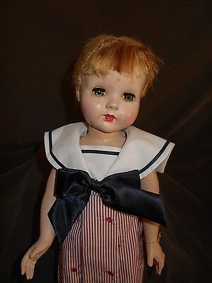 "Vintage 18"" HP Effanbee doll, Sleep Eyes, Stand Included"