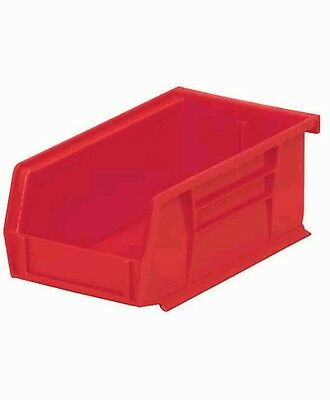 Red Hang and Stack Bin, 10 lb Capacity, 30210RED, Akro-Mils, 6 pack