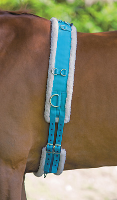 Shires Nylon Roller With Fleece Padding - Blue