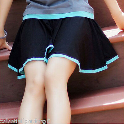Anime Hatsune Miku Cosplay Culottes Pantskirt Split Skirt Cotton Costume Shorts